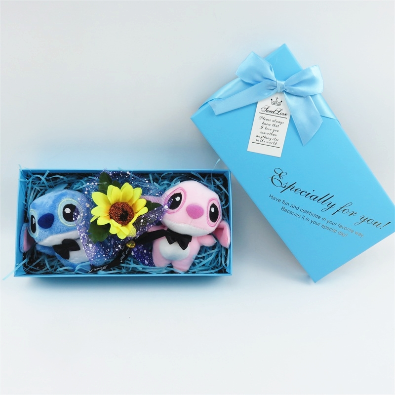 Handmade Stitch Plush Toys Stuffed Animals Small Bouquets Gift Box Creative Gifts For Valentine's  Birthday Graduation Gifts