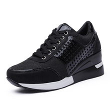 Women Sport Flat Platform Toning Shoes Breathable Ladies Height Increasing Wedge Sneakers Soft Body Shaped Shoes Women Jumping