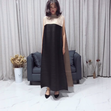 Clearance inventory Summer Miyake pleated basic long simplee dress maxi dresses for women Sale noodle dress One piece(China)