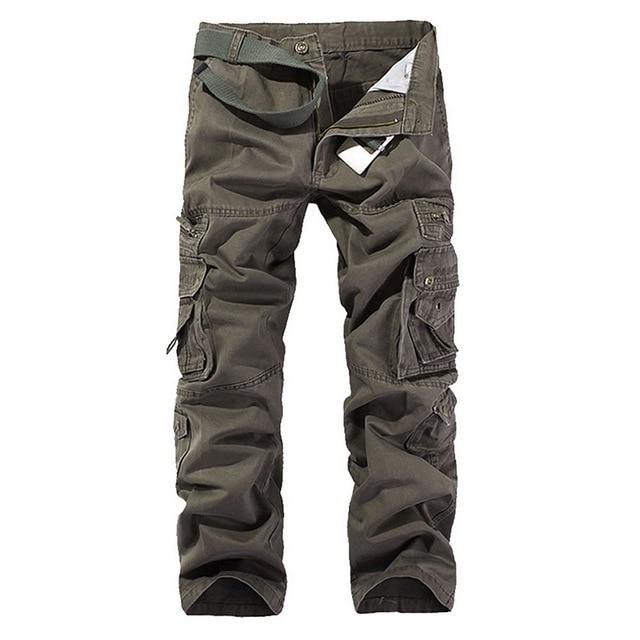 SHUJIN High Quality Men's Cargo Pants Casual Loose Multi Pocket Military Pants Long Trousers For Men Camo Joggers Plus Size 6
