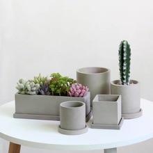 Three Shapes Concrete Hexagonal Flower Pots Silicone Vase Molds Cement