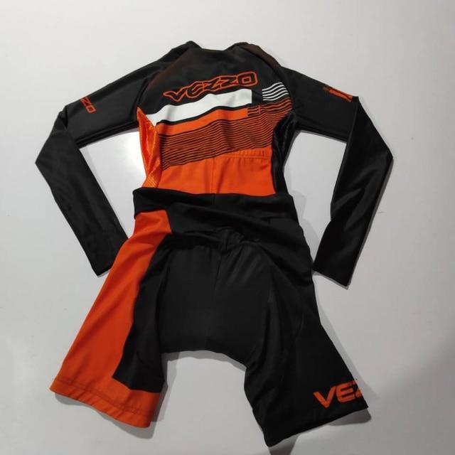 Vezzo verão mangas compridas mulheres bicicleta skinsuit roupa de ciclismo speedsuit mtb ciclismo triathlon esportes ao ar livre wear macacão 5