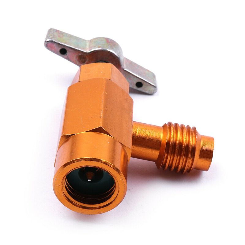 <font><b>1/4</b></font> <font><b>SAE</b></font> Thread Adapter R-134a Refrigerant Can Bottle Tap Opener Valve Tool Auto Car Accessories Car Styling image