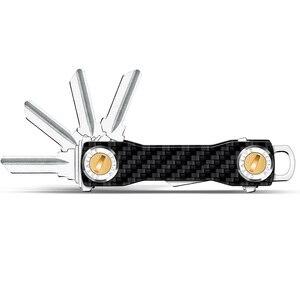 Image 3 - Modern   Brand 100% Carbon DIY Keychain Key Chain Key Smart Wallet EDC Pocket Key Holder Key Organizer housekeeper