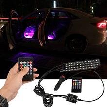Lampe d'ambiance d'intérieur de voiture 72 Led, USB, Bluetooth, lumière sous le pied, bande de gradation continue, lumières, accessoires de voiture