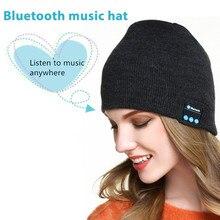 Беспроводные Bluetooth-наушники, Спортивная музыкальная шапка, умная гарнитура, облегающая шапка, зимняя шапка с динамиком для Xiaomi, huawei, Samsung, iphone