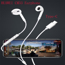 Original HUAWEI CM33 Earphone USB Type-C In Ear Hearphone Headset Mic Volume HUAWEI Mate 10 20 Pro 20 X RS P10 20 30 P20 Lite(China)