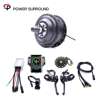 Color display Waterproof Electric 36v350w Front/rear Electric Bike Conversion Kit Brushless Hub Motors with ebike system