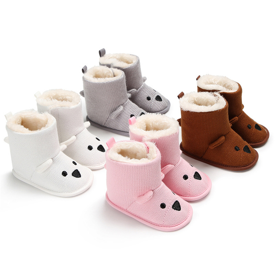 Baby Boys Girls Boots For Newborn Cute Cartoon  Animal Shoes Infant Toddler First Walkers Super Keep Warm Snowfield Boot