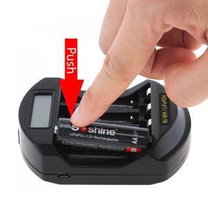 Image 4 - Soshine ЖК дисплей LifePO4 Ni MH 4 слота интеллектуальное зарядное устройство для батарей 14500 /14400 / AA / AAA