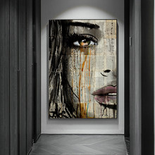 Graffiti Woman Face Canvas Painting Figure Printed Poster and Prints Wall Pictures For Woman Face Living Room Home Decorations