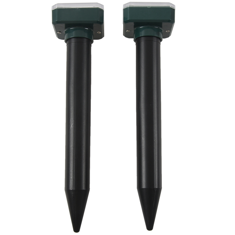 2 Pieces Solar Sonic Mole Repellent Vole Deterrent Chaser Spike|Repellents| |  - title=