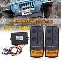 2,4G 12V 24V 50M inalámbrico Digital tornos de Control remoto Kit DE RECUPERACIÓN DE para Jeep SUV