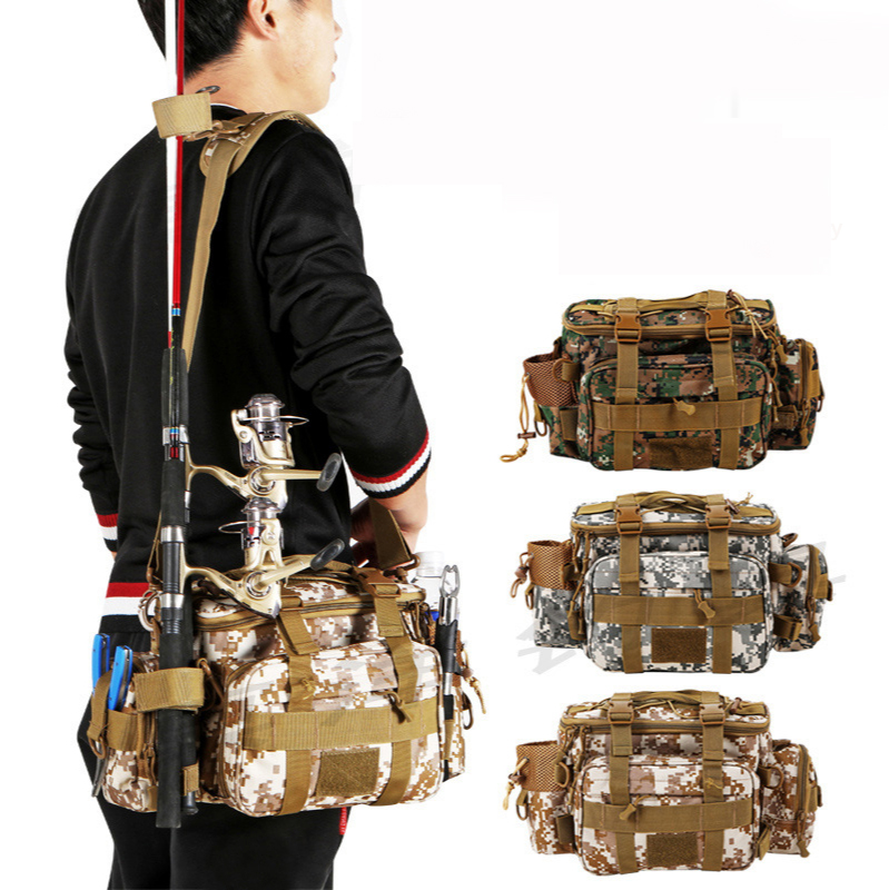 Fishing Backpack with Rod Holder Fishing Tackle Bag Fishing Gear Bag