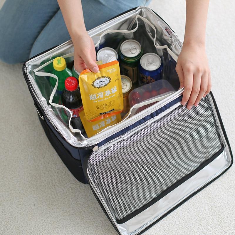 Outdoor ice pack picnic pack Oxford cloth aluminum film crisper 28L capacity