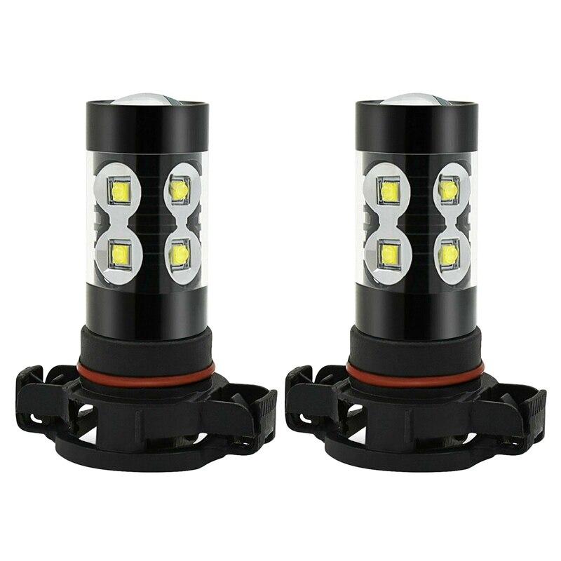High Power H16 5202 5201 LED Fog Light Bulb Car HID White 6000K Driving Lamp DRL