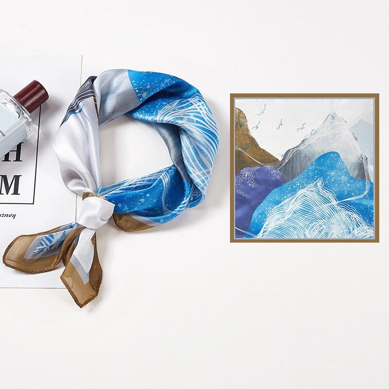 2021 Новый Модный Шелковый квадратный шарф для женщин 53 см атласный шейный платок повязка на голову мягкий шейный платок женский платок