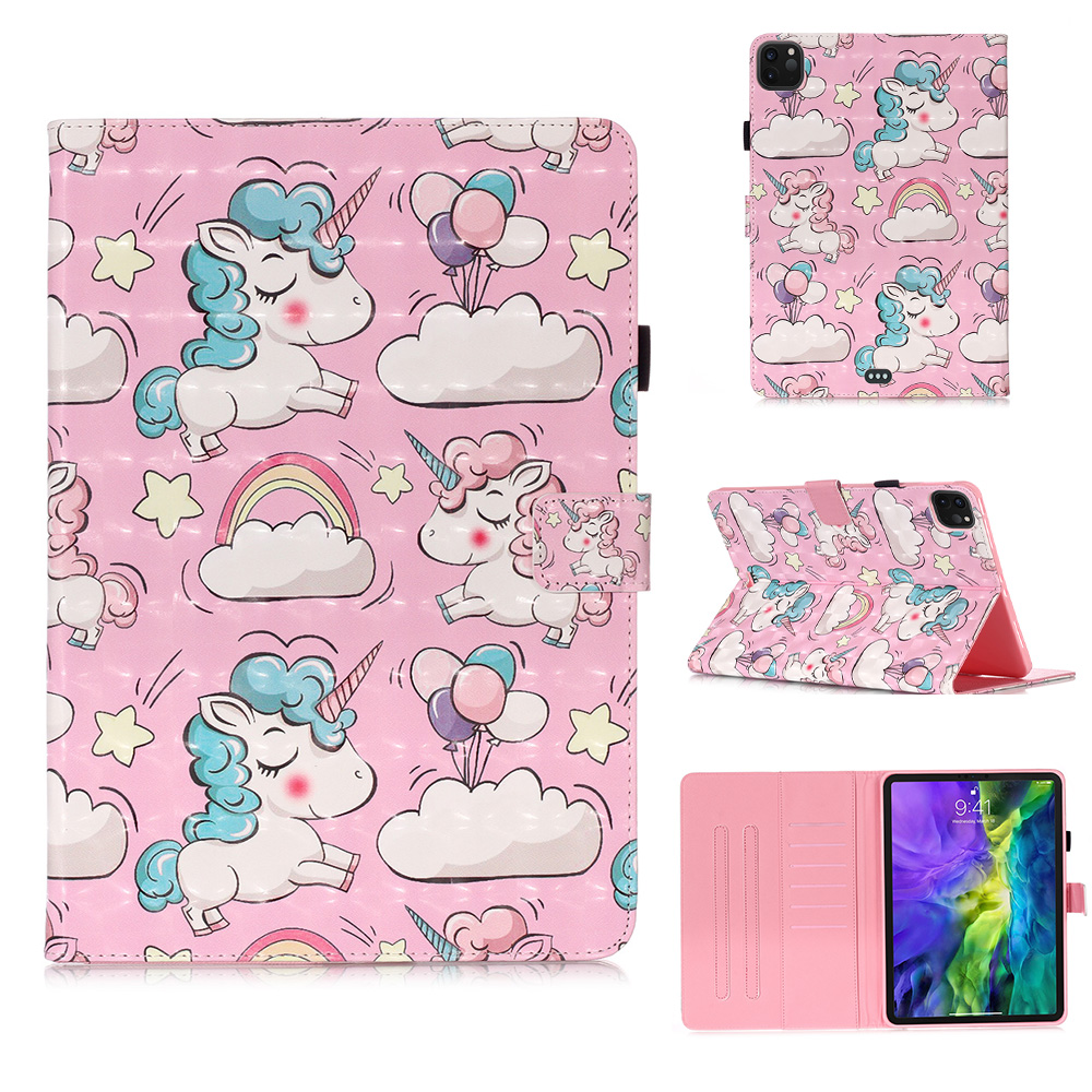 Leather Case Cover Funda For Tablet Unicorn 2020 Owl For Coque Butterfly 11 Bear Pro iPad