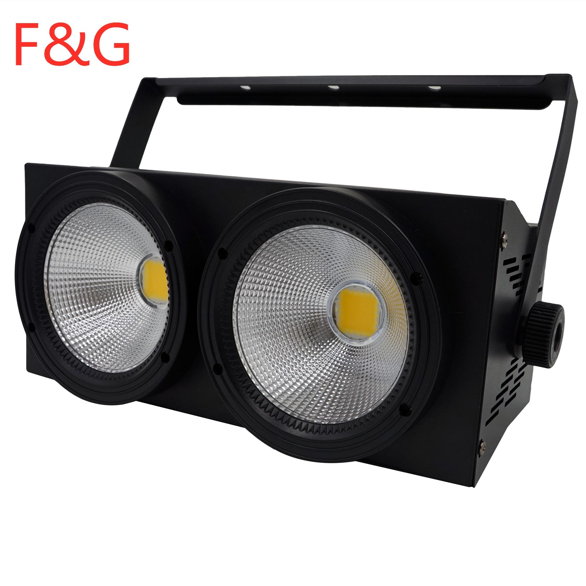 F & GCOB Wash Audience Lights 2 Eyes Flood Lighting 2X100W СВЕТОДИОДНЫЙ матричный Блиндер DMX Par Stage Uplighting для Dj Disco Concert