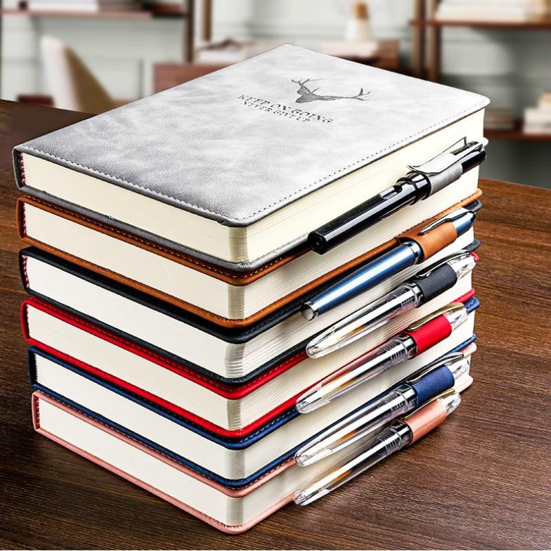 360 страниц супер толстый A5 дневник ежедневный бизнес офисный Рабочий ноутбук простой толстый колледж офисный Дневник Школьные принадлежности 2