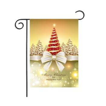 Ozdoby choinkowe seria flaga do ogrodu na zewnątrz dekoracyjne wiszące zimowe sezonowe podwórko wystrój ogrodu tanie i dobre opinie CN (pochodzenie) Poliester Dekoracji Latanie Polyester Akrylowe Christmas Garden Flag Drukowane