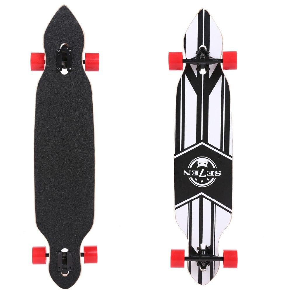 41 inch Dancing Longboard Skateboard Maple Flat Plate 106 cm Professional Skateboard Speed Four Wheels Street Longboard