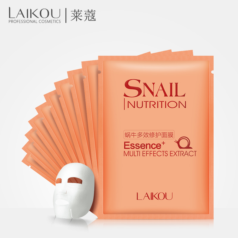 LAIKOU Snail  Facial Mask Korean Blackhead Essence Cosmetic Moisturizing Oil Control Shrink Pores Face  Whitening Skin Care