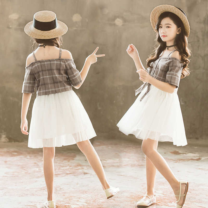 2020 moda muito bonito verão menina flor menina vestido de noite vestido tule flor princesa vestido 2 a 12 anos de idade roupas