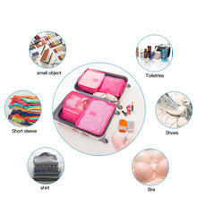 2020 Hot Selling 6Pcs Travel Clothes Storage Waterproof Bags Portable Luggage Organizer Pouch Packing Cube 7 Colors Local Stock