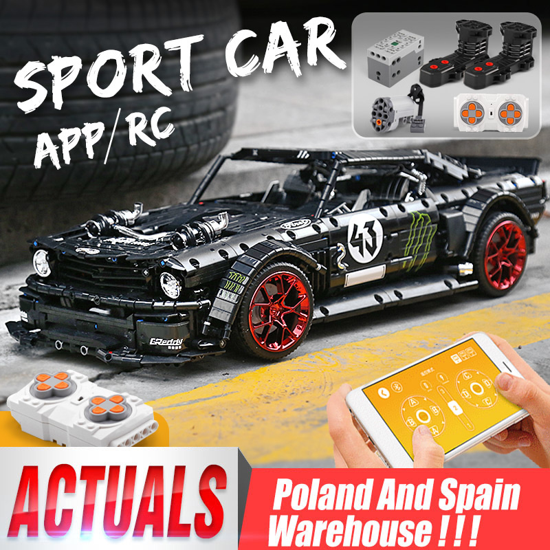 DHL 20102 Technic Motor Car Series Compatible MOC-16915 Mustang Hoonicorn With Motor Function Car Toys Building Blocks