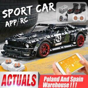 Image 1 - DHL 20102 teknik motorlu araba serisi uyumlu MOC 16915 Mustang Hoonicorn ile Motor fonksiyonu araba oyuncak yapı taşları