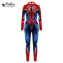 Couleur Cosplayer spécial Spiderman Cosplay déguisement pour homme adulte pourim carnaval body à manches longues collants vêtements de fête(China)