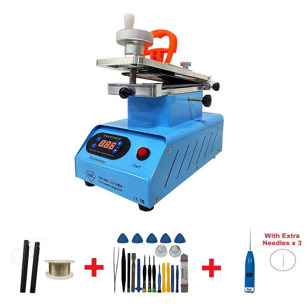 TBK 988C Built-in Double Vacuum Pumps Flat Edge LCD Touch Screen Rotary Separator Machine for Max 7 Inches