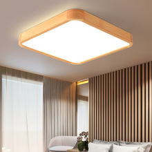 купить Modern Wood Rectangle Ceiling Lights For Living Room Bedroom Led Lights Decoration LED Ceiling Light Indoor Lighting Fixtures Home по цене 3288.47 рублей
