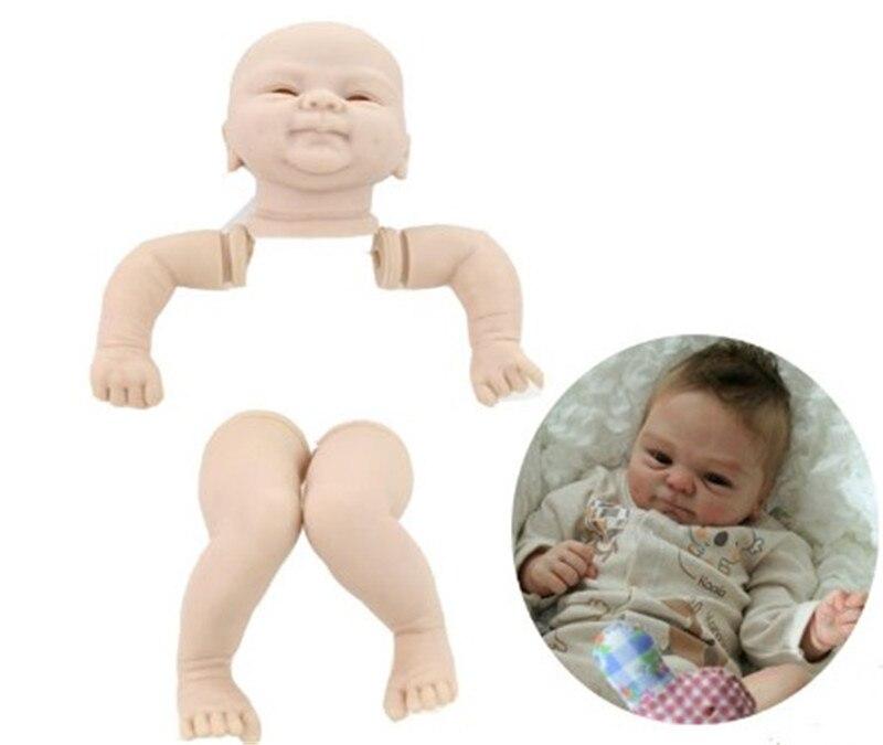 Bom preço kits de boneca bebê renascer para 16 doll doll bebê boneca feita por vinil macio toque real 3/4 membros sem pintura em branco boneca diy reborn