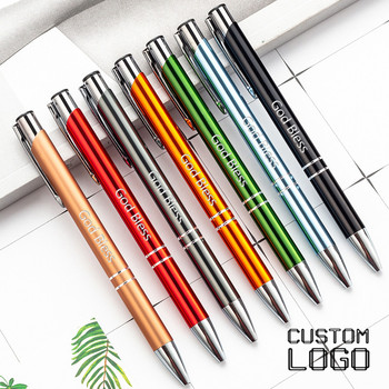 5pcs Laser Engraved LOGO Ballpoint Pen New Personality GIft Pen Customized FREE With Your Text School Office Supplies sales champion 60pcs lot 10 colors metal pen customized logo printing with free logo name or text for company event supplies