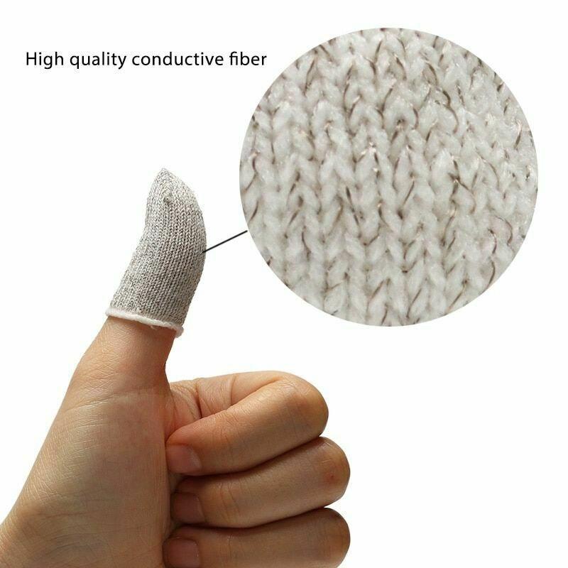 10Pcs Mobile Finger Sleeve Sensitive Game Controller Sweatproof Aim Keys For PUBG NC99