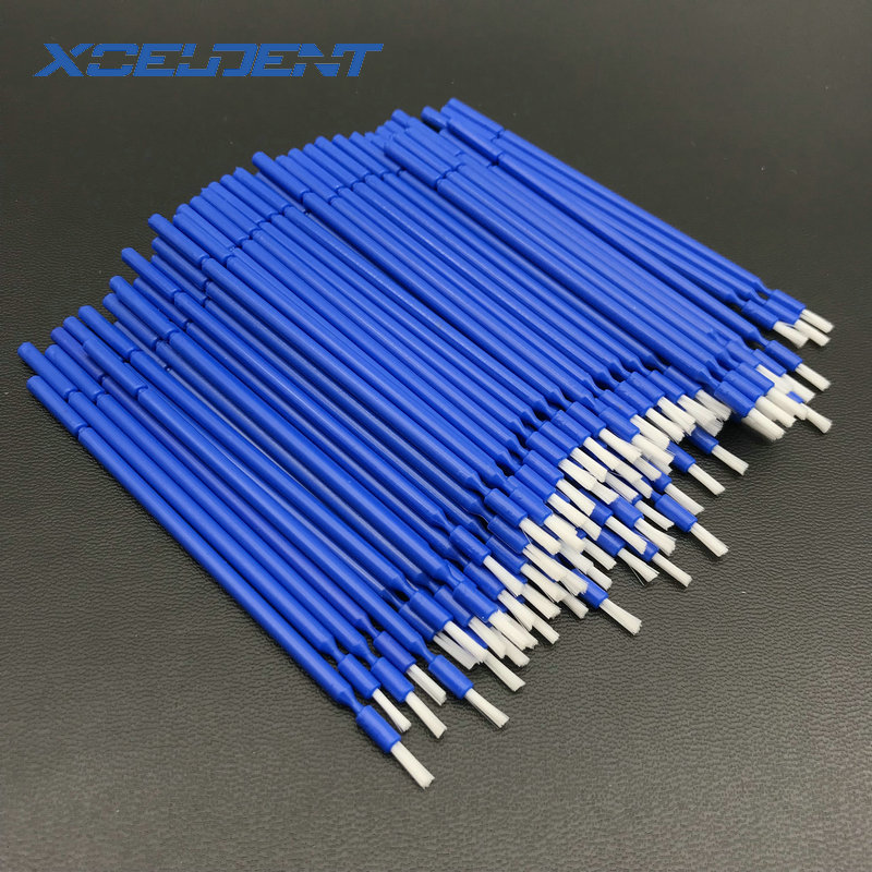 100pcs Dental Lab Long Disposable Micro Applicators Brushes Dental Brush