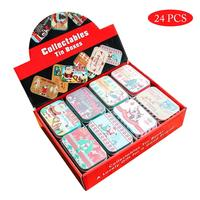 24PCS Cookie Jar Christmas Gift Box With Lid Biscuit Candy Jar Snack Storage Container Christmas Gift Jar Home Decoration