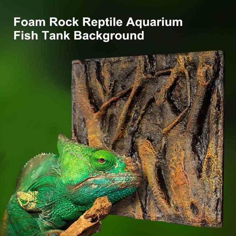 6 tipi di schiuma 3D Rock rettile pietra acquario sfondo sfondo Fish Tank Board Decor all'ingrosso schiuma di cuoio dell'unità di elaborazione 60x45x3cm