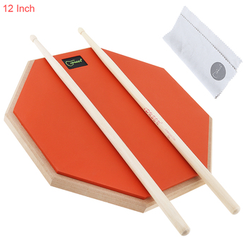 12 inch Rubber Wooden High Quality Portable Dumb Drum Practice Training Drum Pad for Percussion Instruments Parts Accessories dp 850 practice drum pad lightweight and portable design cherub