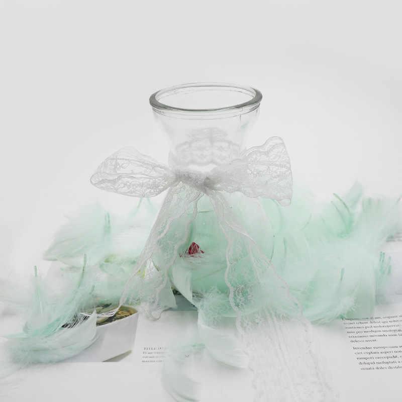 100 unids/lote de plumas coloridas, caja de Material de embalaje de regalo, suministros de relleno, manualidades Diy, accesorios de decoración para fiestas de cumpleaños y bodas
