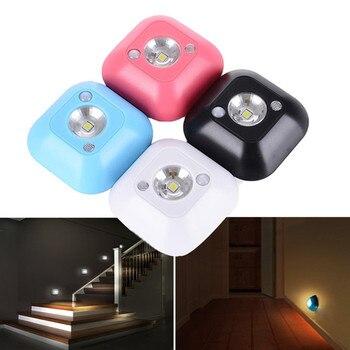Mini Wireless LED Sensor Night Light Lamp PIR Infrared Motion Activated Sensor Light for Wall Lamp Cabinet Stairs Light mini wireless pir motion sensor night light battery powered porch cabinet lamp