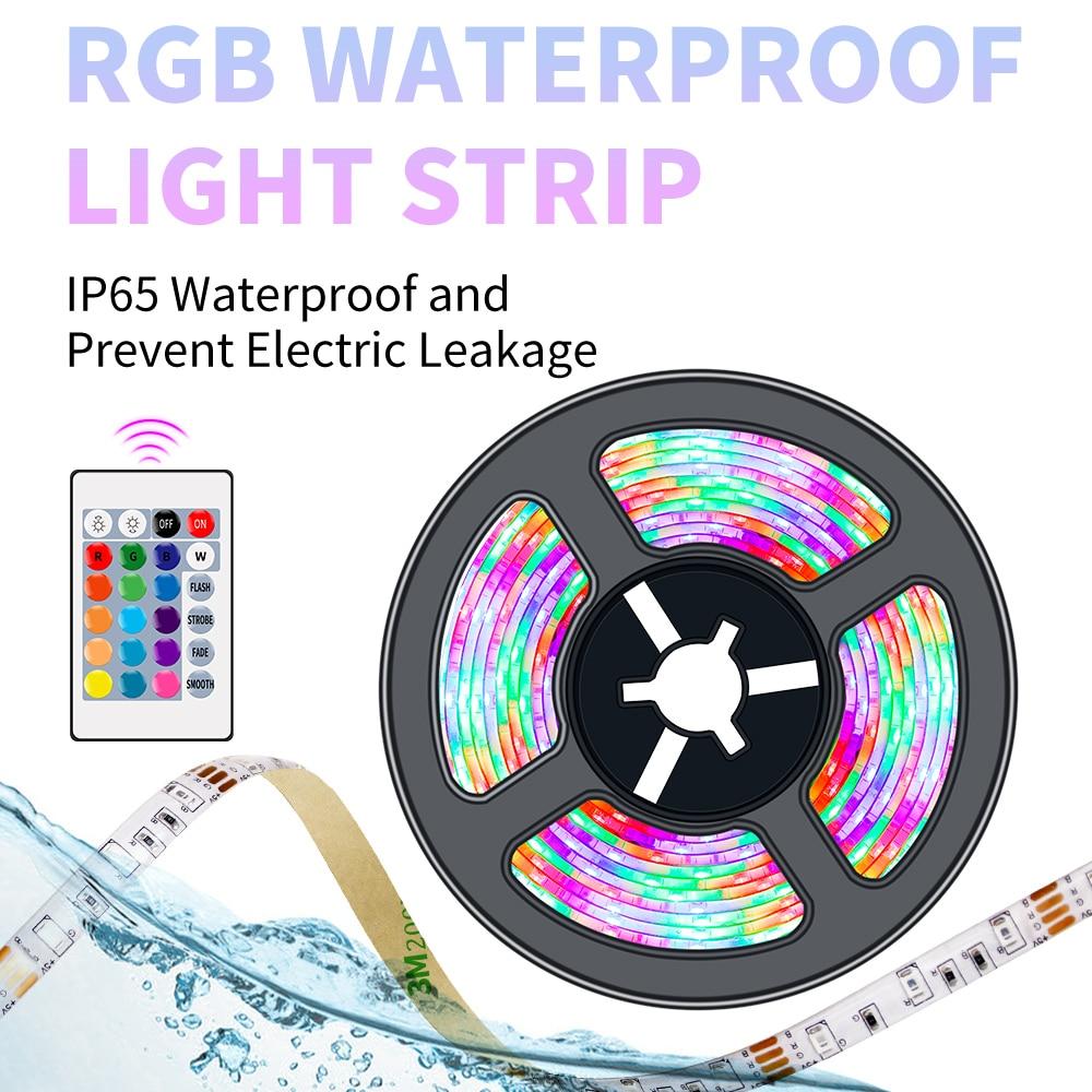 Tira Led RGB de 5V, tira Led USB, tira de neón para retroiluminación de TV Led RGBW, tira de luces navideñas para decoración del hogar, cinta de lámpara 2835SMD
