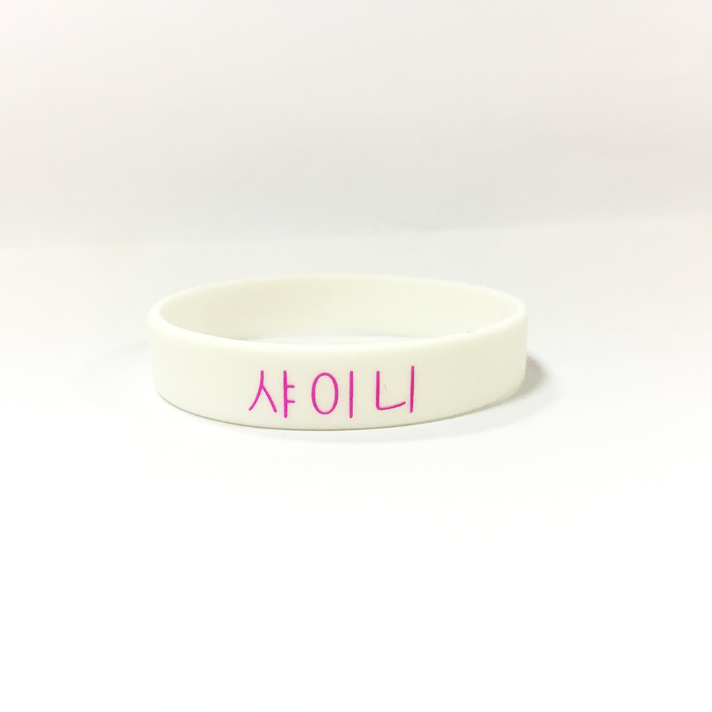 Hot sale 2019 New 1 colour K-POP SHINee logo wristband silicone bracelets