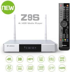 ТВ-приставка Zidoo Z9S Android 7,1 4K плеер 2 Гб 16 Гб двойной WiFi 2,4G 5,0G USB 3,0 BT 4,0 Смарт ТВ-бокс с бесплатным подарком