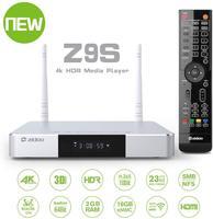 Z9s android 7.1 caixa de tv 4 k jogador 2 gb 16 gb duplo-wifi 2.4g 5.0g usb 3.0 bt 4.0 caixa de tv inteligente com presente livre
