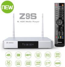 Zidoo TV Box Z9S con Android 7,1, reproductor 4K, 2GB, 16GB, WiFi Dual, 2,4G, 5,0G, USB 3,0, BT 4,0, dispositivo de TV inteligente, con regalo gratuito