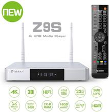 Zidoo Z9S  Android 7.1 TV Box  4K Player 2GB 16GB Dual WiFi 2.4G 5.0G  USB 3.0 BT 4.0 Smart TV Box with free gift