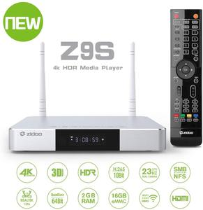 Image 1 - Zidoo Z9S  Android 7.1 TV Box  4K Player 2GB 16GB Dual WiFi 2.4G 5.0G  USB 3.0 BT 4.0 Smart TV Box with free gift